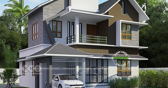 2007 Sq Ft Mixed Roof Modern Kerala Home Plan Kerala Home Design And Floor Plans