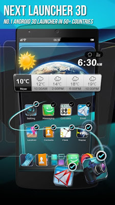 Next Launcher 3D Shell Menu