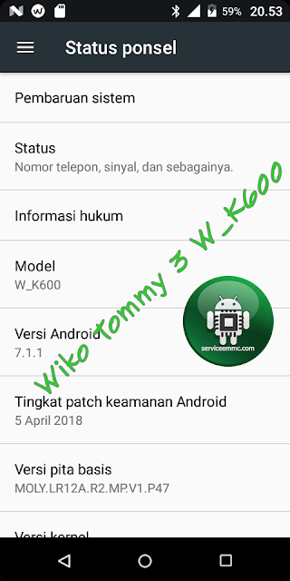 File Paketan Wiko Tommy 3 W_K600 Backup Cm2 Dongle