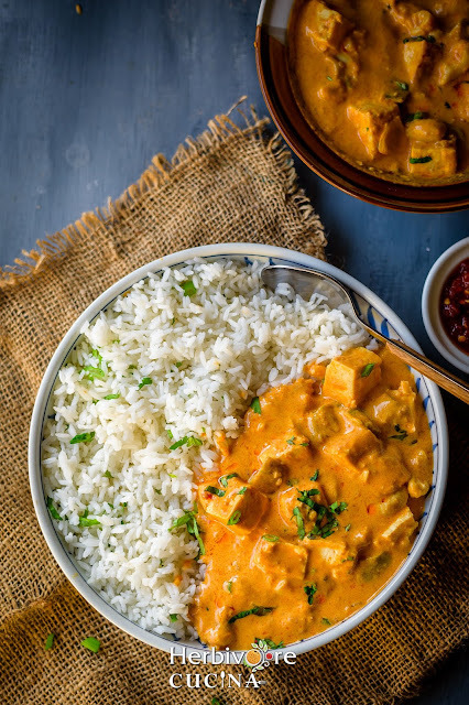 Instant Pot Peanut Tofu curry with rice
