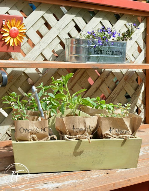 Upcycled French Country Herb Caddy