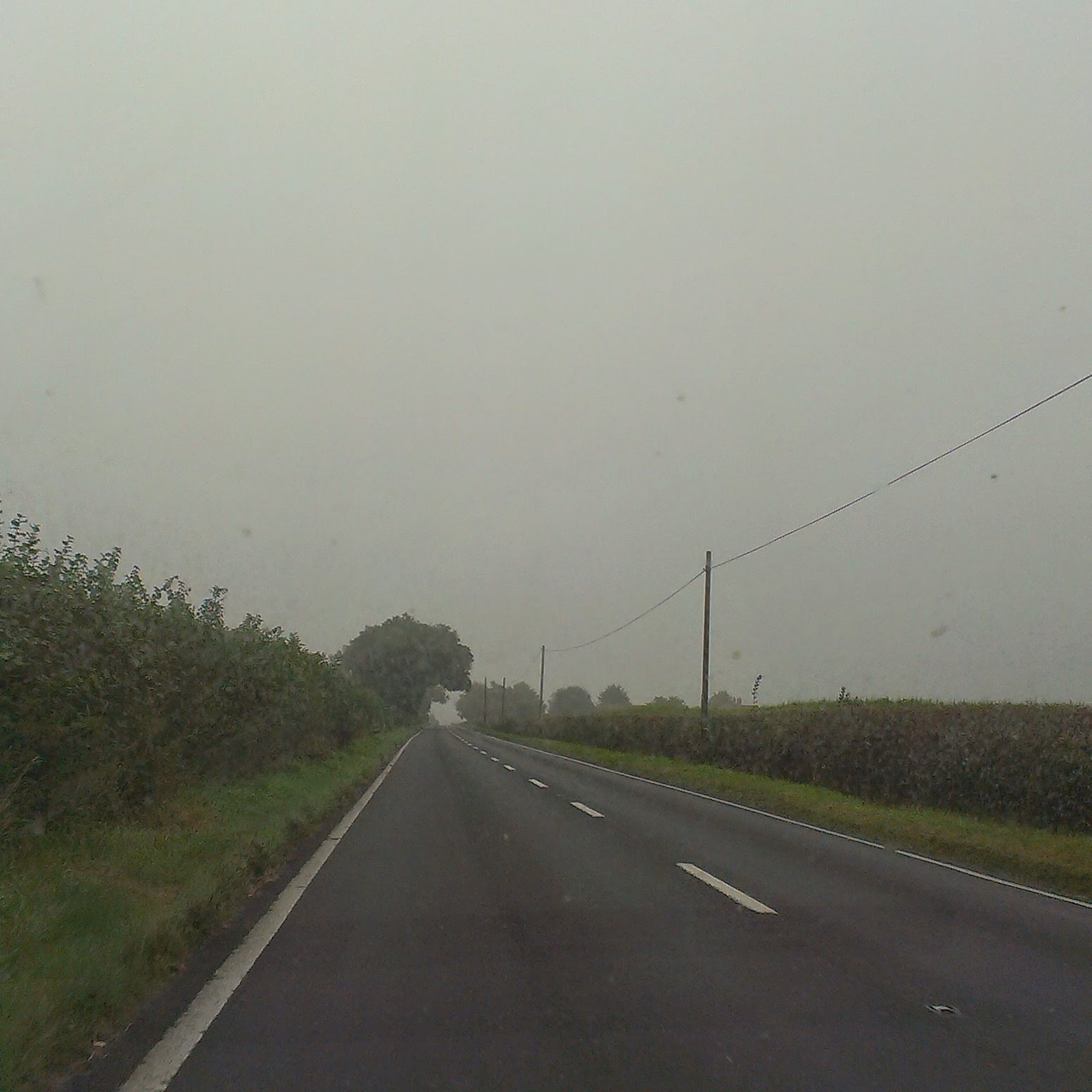 9am - driving through the mist