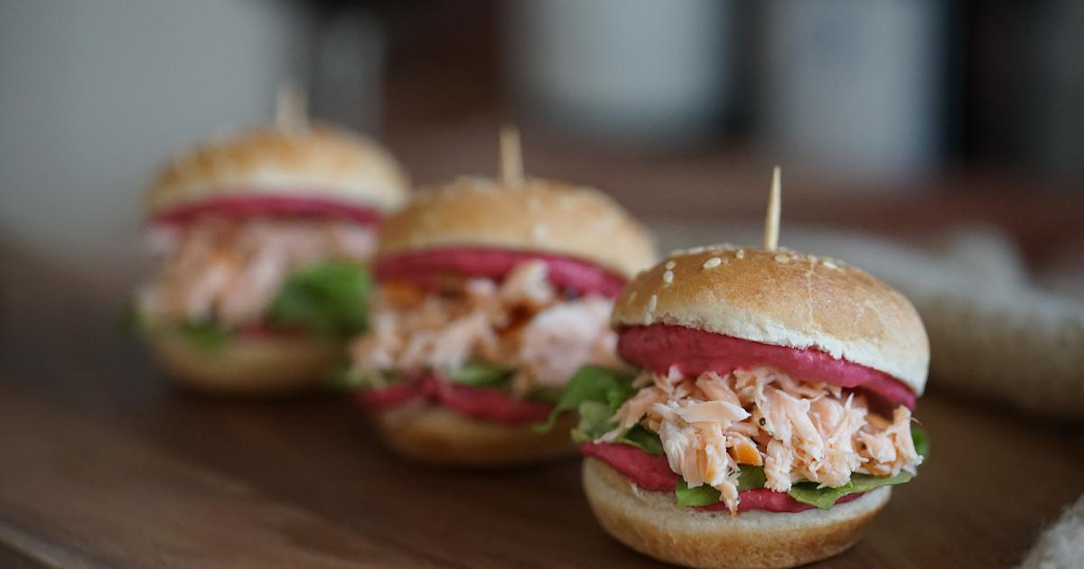 {WERBUNG} Easy Pulled Salmon Burger
