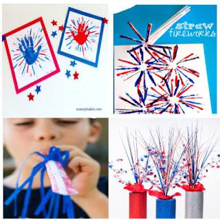 25+ fun & creative ways for kids to make fireworks! #fireworks #fireworkspainting #fireworkscraft #fireworkscraftforkids #fireworkscraftpreschool #makeyourownfireworks #firecrackercraftsforkids #forthofjulycrafts #kidscrafts #growingajeweledrose