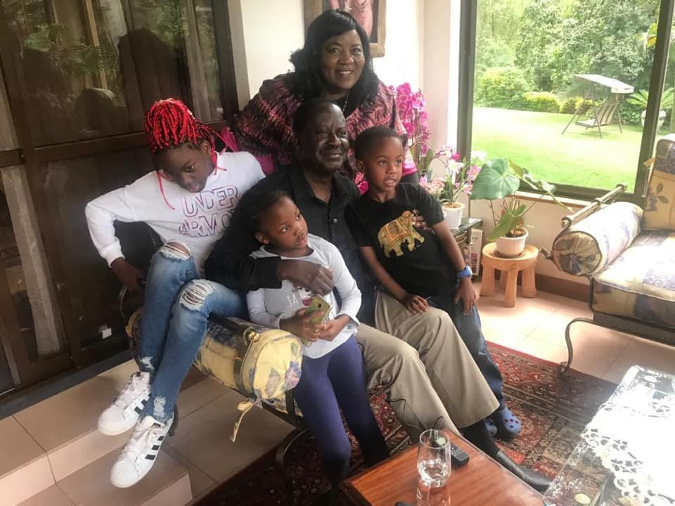 DAILY POST: Lovely PHOTO of RAILA spending time with his