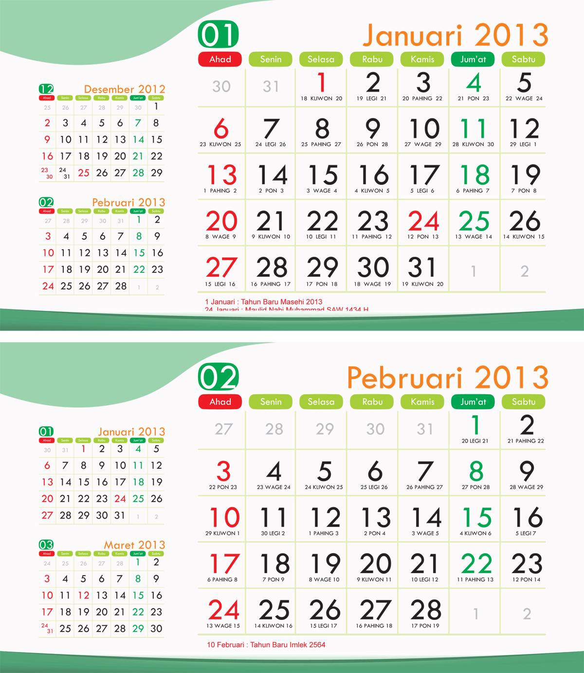 60 Foto Kemewahan Dari Desain Template Kalender Dinding