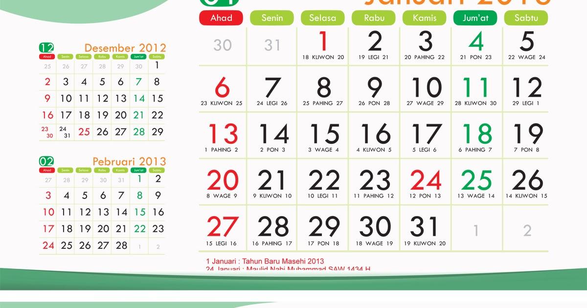 Download Desain Kalender 2019 Cdr Free