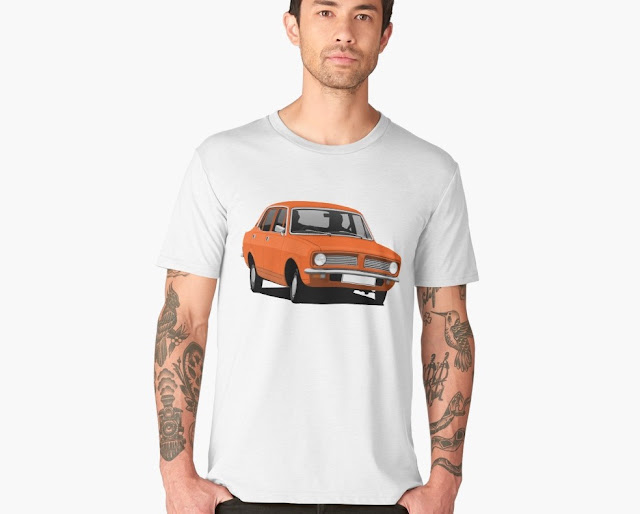 Retro Morris Marina Sedan - car t-shirt