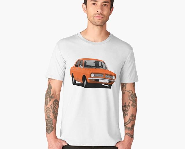 Retro Morris Marina Sedan - car t-shirt