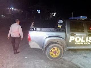 Untuk Mencegah Tindak Pidana Kejahatan Malam Hari, Personel Polsek Maiwa Polres Enrekang Laksanakan Patroli