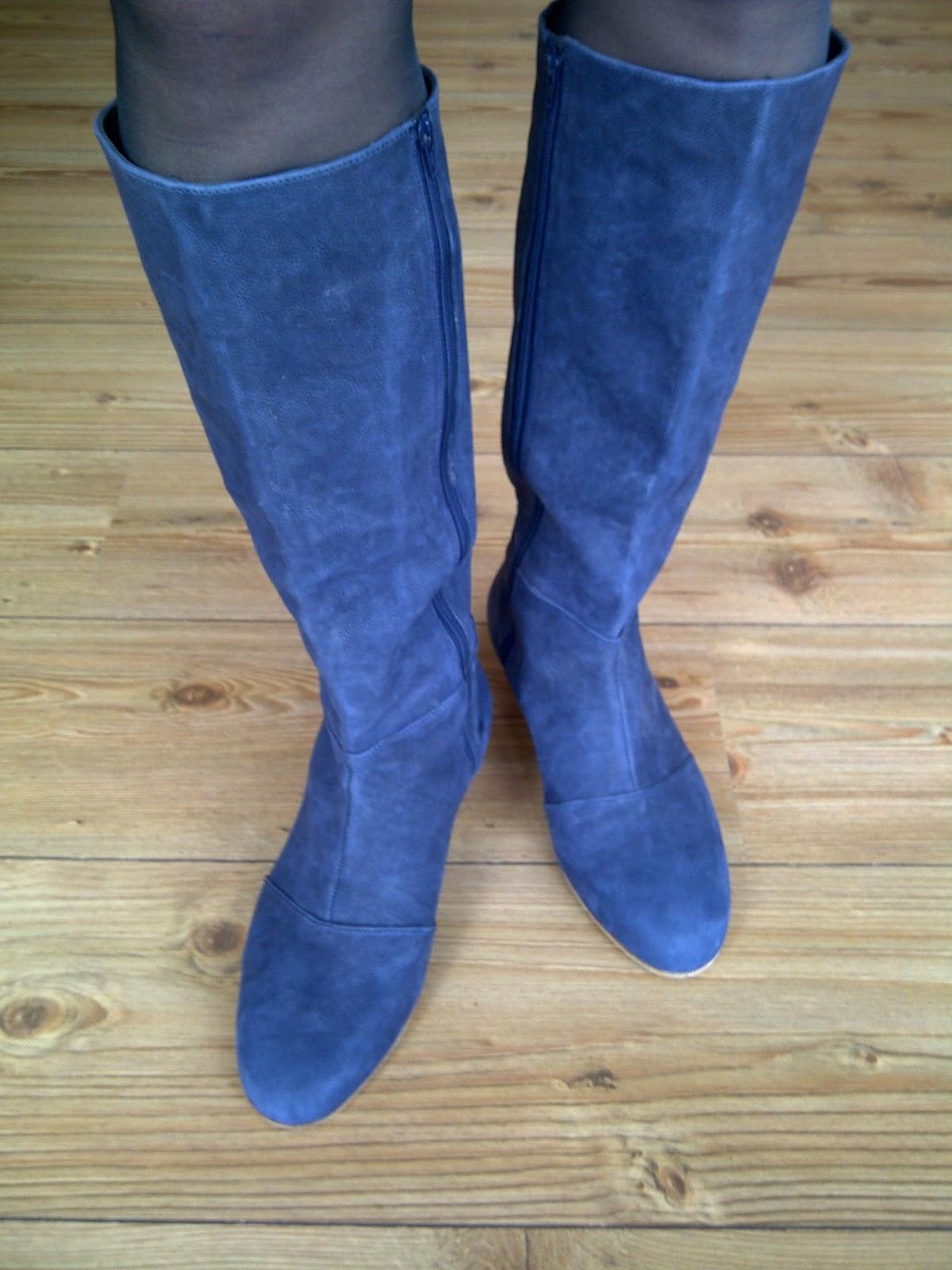 Marie De Witte Blauwe Laarzen