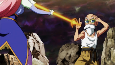 """Dragon Ball Super"" Episodio 105 - ¡Un combate duro! ¡El maestro Roshi arde!"