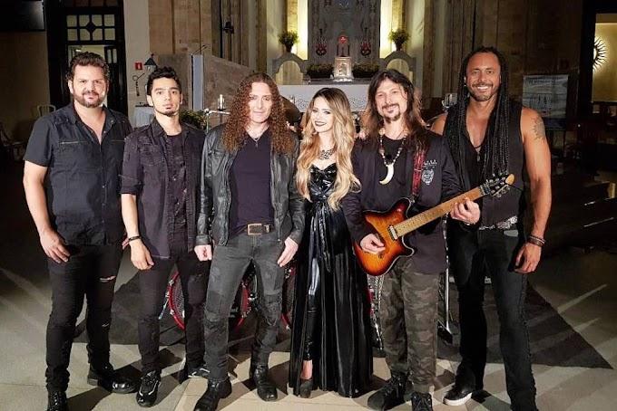 Sandy está de volta com sua versão metaleira em mais um lançamento com a banda Angra