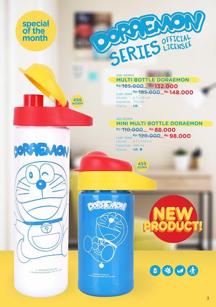 Promo Produk Tulipware Februari 2020, Mini Multi Bottle Doraemon