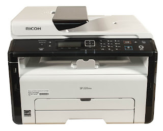 cost multifunction devices targeted for installation inward small-scale offices Ricoh SP 220SNw Driver Download