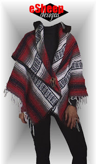 No Sew Blanket Poncho by eSheep Designs