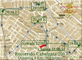 Itinerario Cabalgata 2017