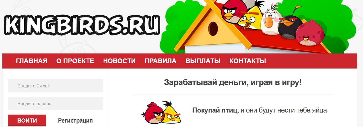 Мошеннический сайт kingbirds.ru – Отзывы, развод, платит или лохотрон? Информация
