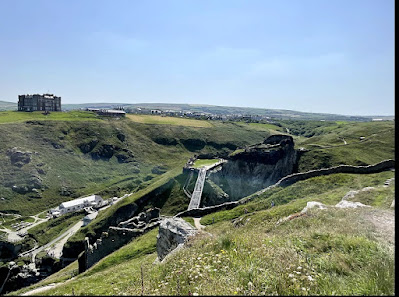 Family day out at Tintagel Castle, Cornwall
