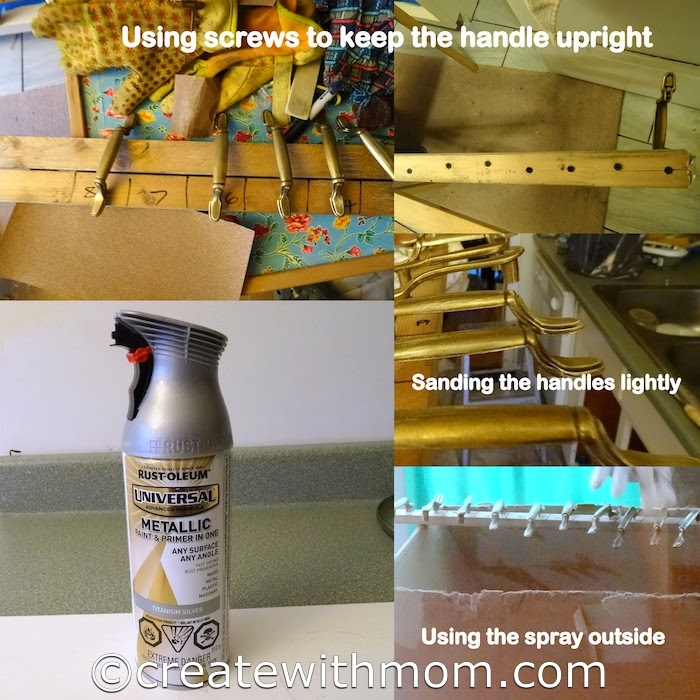 Create With Mom: Our Cabinet Transformation Using Rust-Oleum