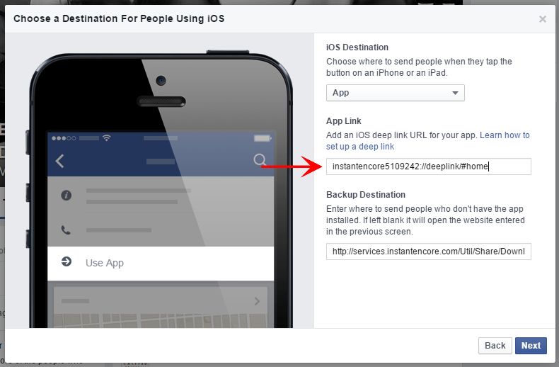 Setting up a Facebook Call-to-Action Button | InstantEncore