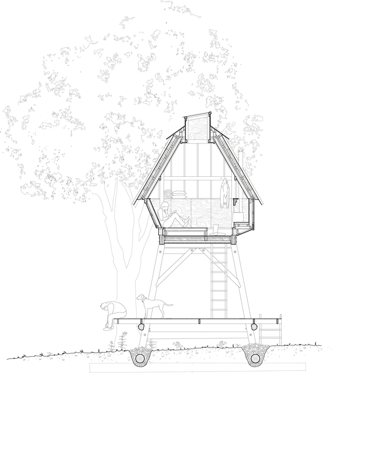 13-Nozomi-Nakabayashi-Architecture-of-the-Recycled-Reclaimed-and Local-Hut-on-Stilts-www-designstack-co
