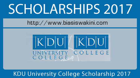 KDU University College Scholarship 2017