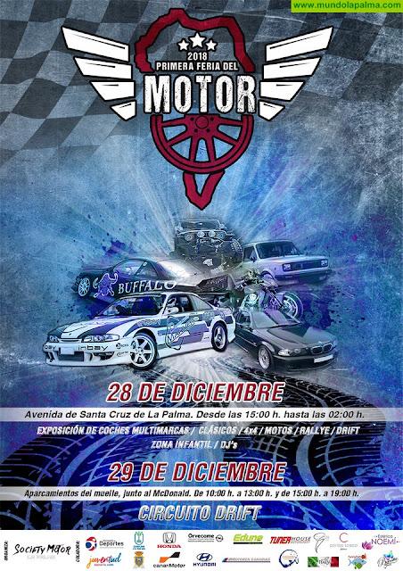 Cerca de 90 vehículos participan este fin de semana en la primera Feria del Motor de Santa Cruz de La Palma