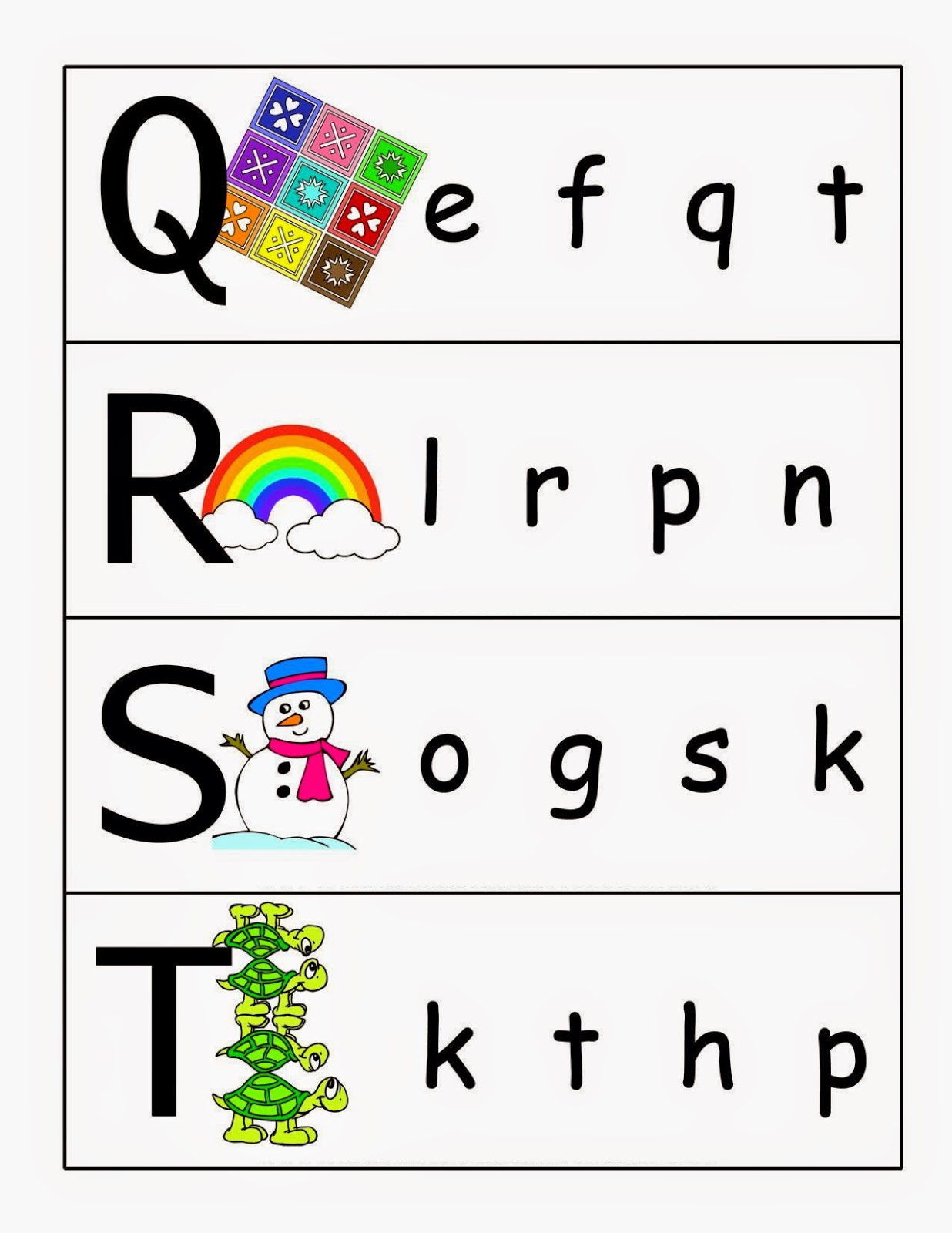 Kindergarten Worksheets Match Upper Case And Lower Case Letters 5