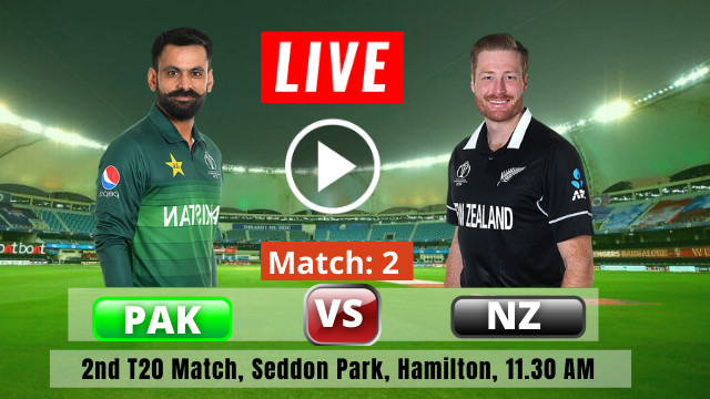 NZ vs PAK 2nd T20 : New Zealand vs Pakistan T20 Series 2020-2021, Pakistan have won the toss and have opted to bat