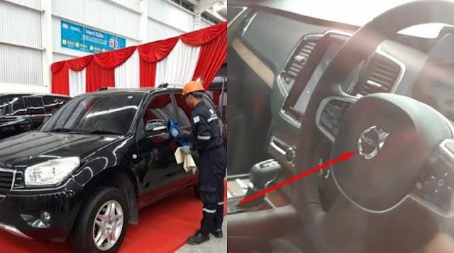 SUV Jebolan Esemka juga Dipajang, di Bagian Setir Masih Ada Merek Mobil Eropa 'Volvo'