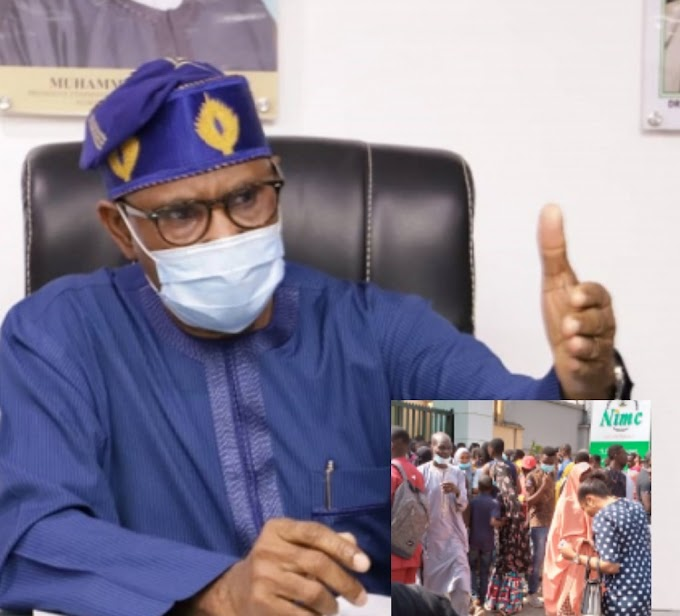 NIN REGISTRATION: Minister of health says NIN registration might be put on hold as throngs of people gathered at NIMC offices may pose a Covid-19 risk