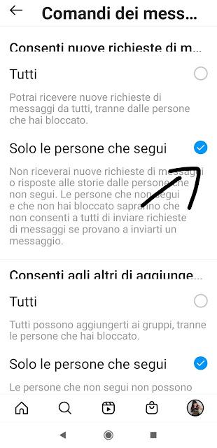 instagram messaggi
