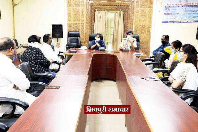 DM और SP की ट्रांसपोर्टर्स के साथ मीटिंग, माल वाहन में कोई भी यात्री नहीं होना चाहिए / Shivpuri News