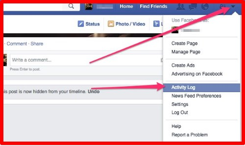 how to unhide facebook post