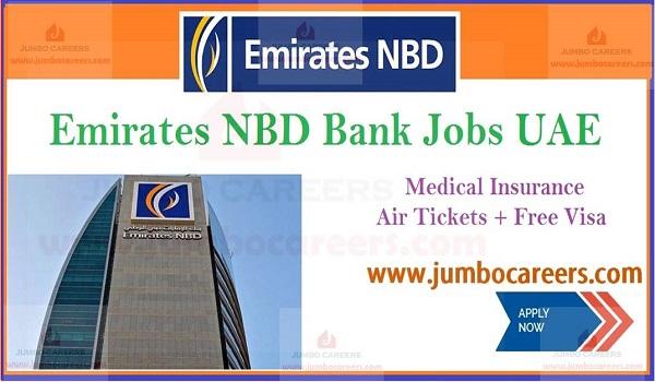 Free visa and air ticket jobs  in UAE, UAE bank job vacancies with benefits,