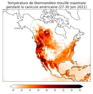 Evaluation du risque d'hyperthermie pendant la vague de chaleur de juin 2021 aux Etats-Unis et au Canada