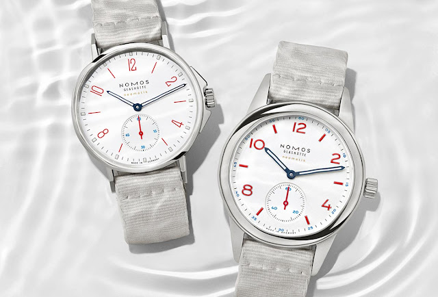 Nomos Glashütte Ahoi neomatik siren white and Club neomatik siren white