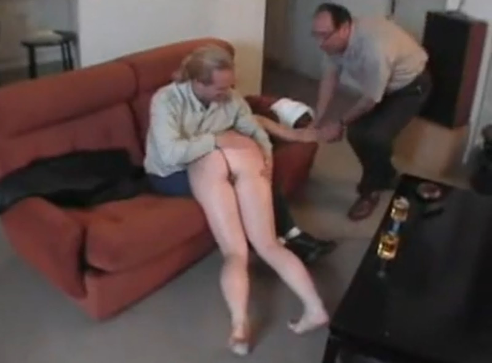 Dad Friend Punish Daughter