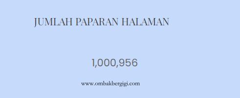 Terima Kasih Untuk 1,000,000 Pageviews