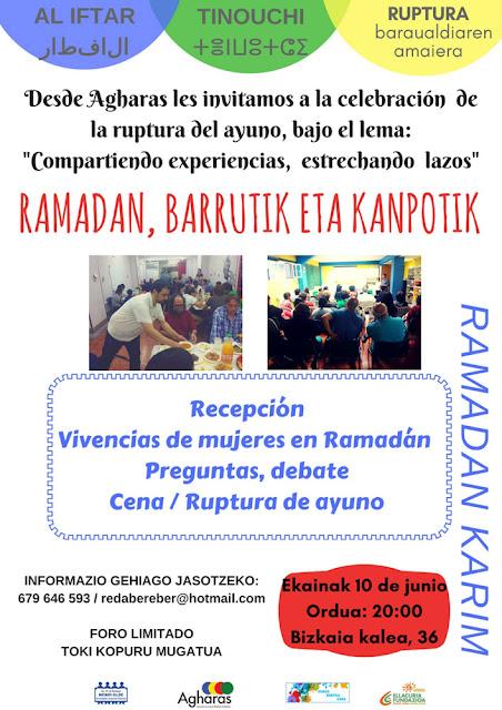 Cartel del encuentro de fin de ayuno del ramadán