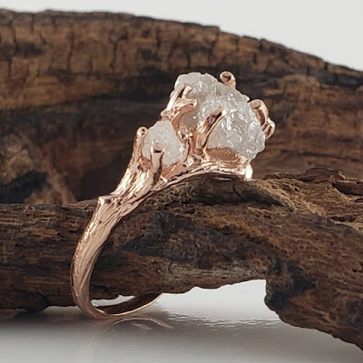 Rough Raw Uncut Engagement Ring