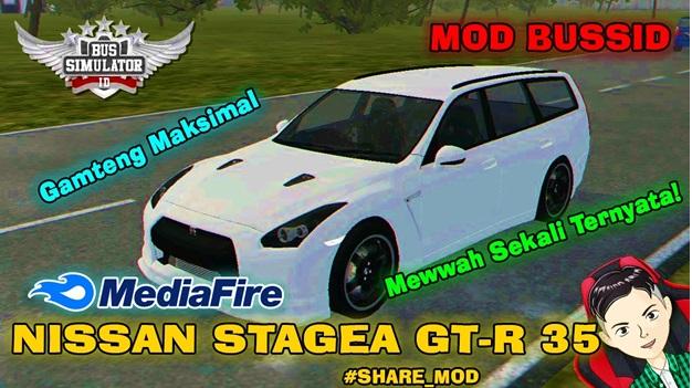 Mod Bussid Nissan Stagea GTR R35