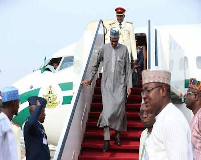 Buhari Arrives Nigeria From Turkey