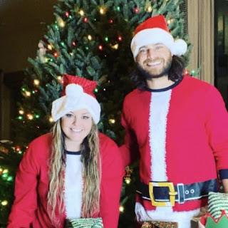 Crawford And His Wife Enjoying Christmas