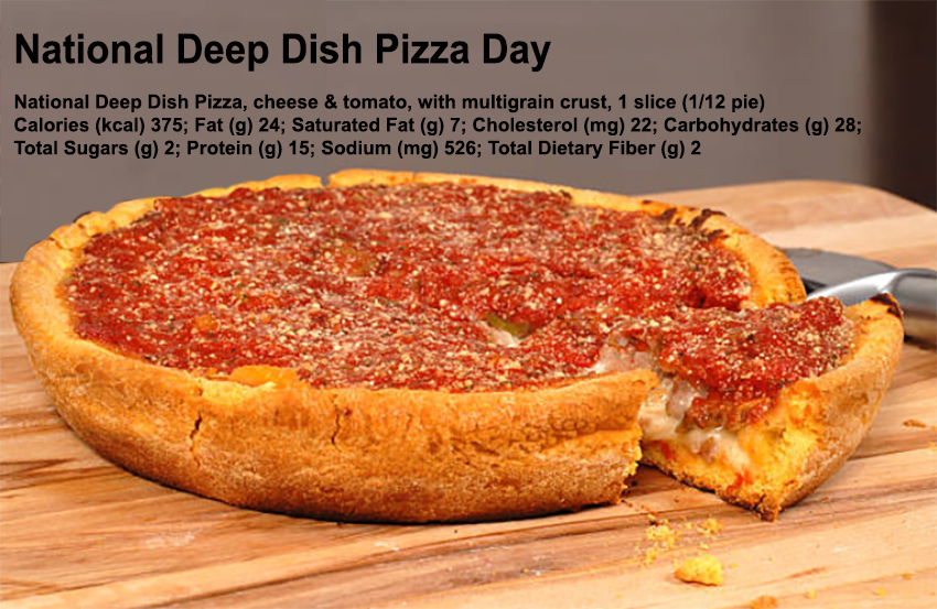 Dietitians Online Blog National Deep Dish Pizza Day