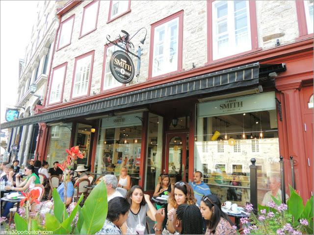 Cafetería La Maison Smith en la Ciudad de Quebec