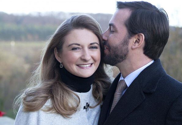 A never before seen photo of Hereditary Grand Duke Guillaume and Hereditary Grand Duchess Stephanie