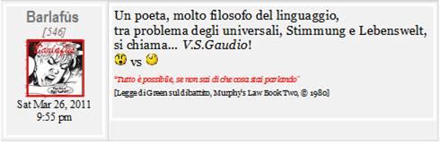 Nomi e Cognomi: V.S. Gaudio ► Un poeta col problema degli universali
