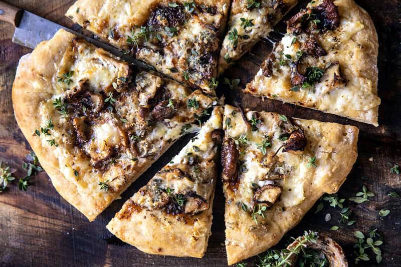 Balsamic Mushroom Fontina Pizza